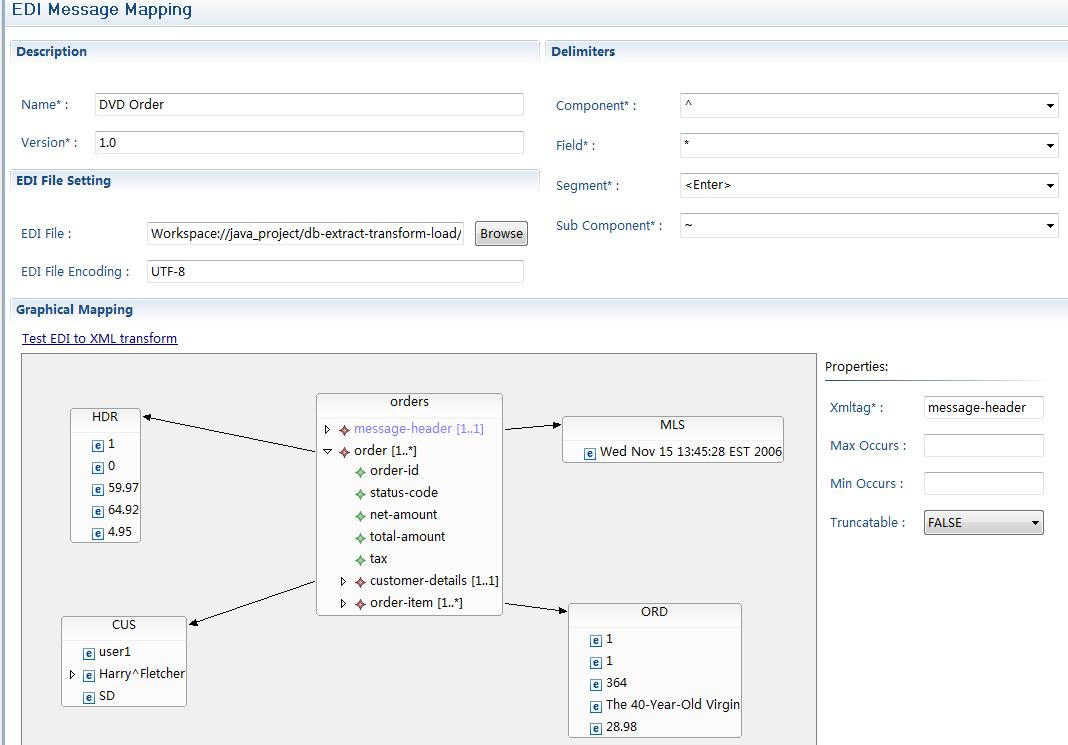 JBIDE-4592] Develop EDI message mapping editor - JBoss Issue