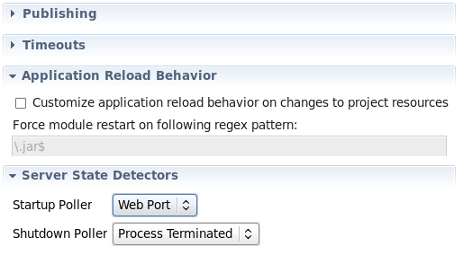 module restart behavior screenshot
