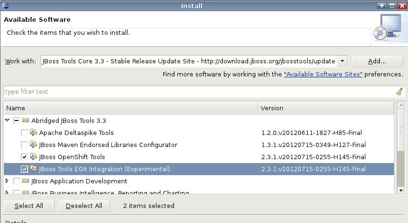 JBIDE-12248] JBoss Tools (Indigo) Installation from Eclipse