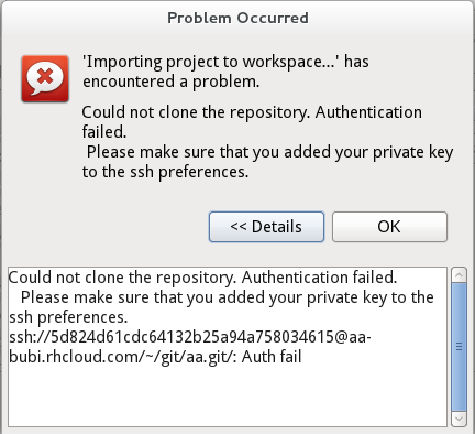 JBIDE-12775] if cloning fails because of missing private key