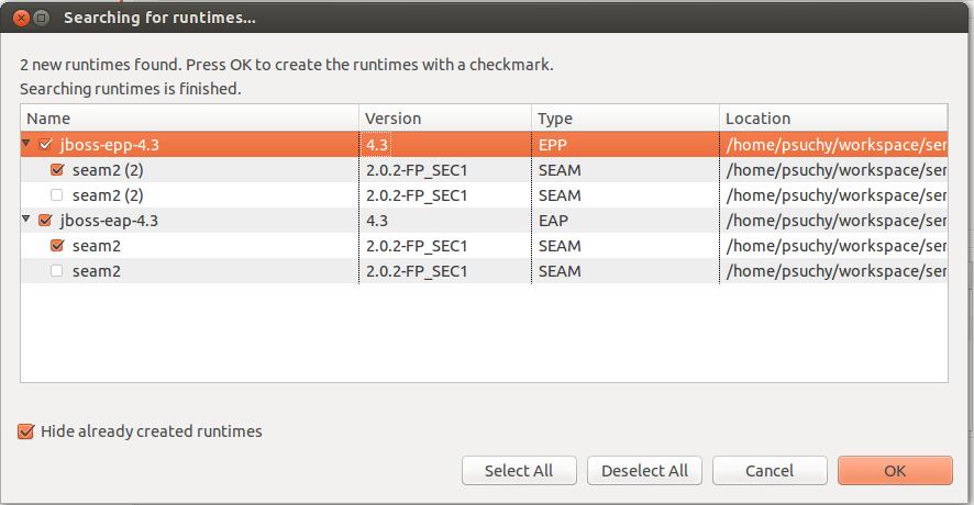 JBIDE-14134] Seam found twice when detecting some runtimes - JBoss