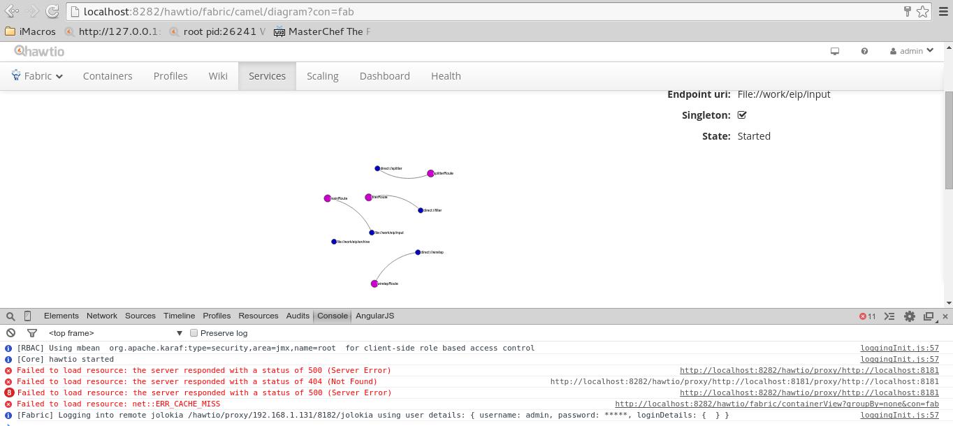 ENTESB-2063] Hawtio Fabric-Runtime-EIPs: Diagram doesn't