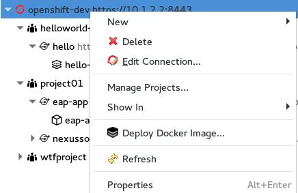 JBIDE-22242] OpenShift Explorer: Reorganize context menus - JBoss