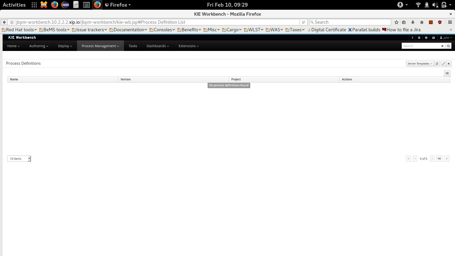 JBPM-5671] Server template selection - JBoss Issue Tracker